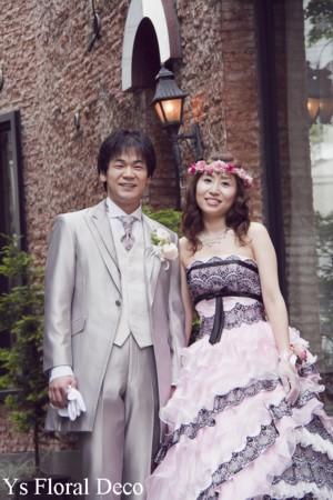 ルセーヌ館のおふたり ピンク色の花冠とリストレット_b0113510_11194178.jpg