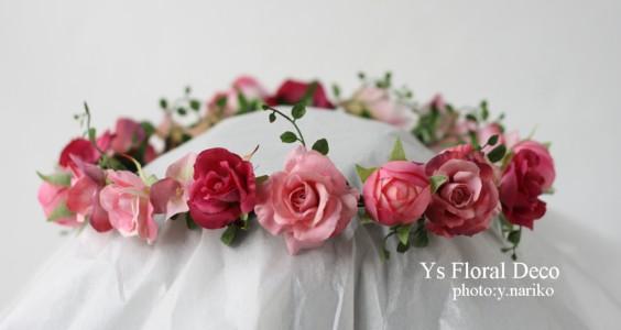 ルセーヌ館のおふたり ピンク色の花冠とリストレット_b0113510_11203465.jpg