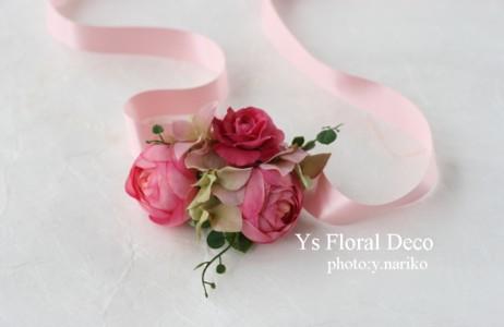 ルセーヌ館のおふたり ピンク色の花冠とリストレット_b0113510_1120476.jpg