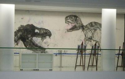 恐竜アートも展示!_f0229508_21251930.jpg