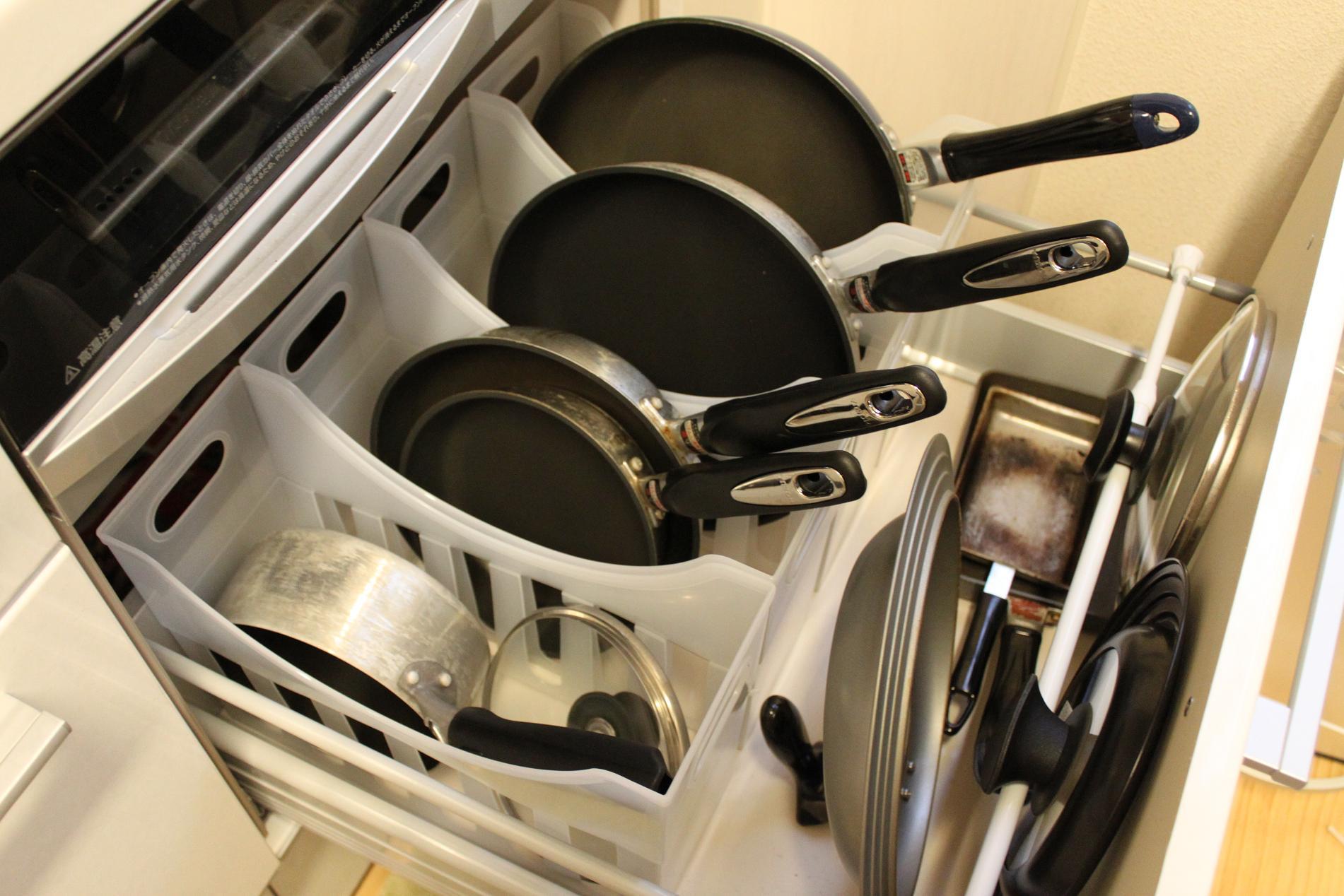 フライパン キッチン 収納 立てる ファイルボックス