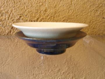 臼田けい子さんの瑠璃、紺 、白のうつわたち_b0132442_17535441.jpg