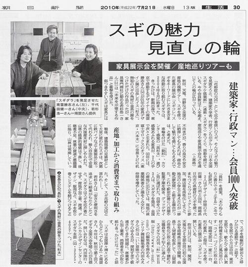 スギダラが朝日新聞に掲載!  _b0068169_1194435.jpg