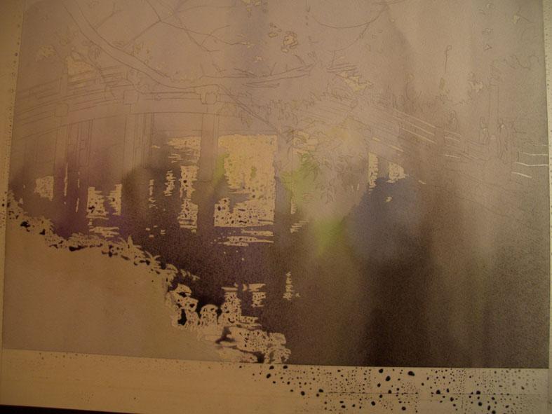 水彩画「タイトル未定」ちょっと工程_f0176370_16562474.jpg