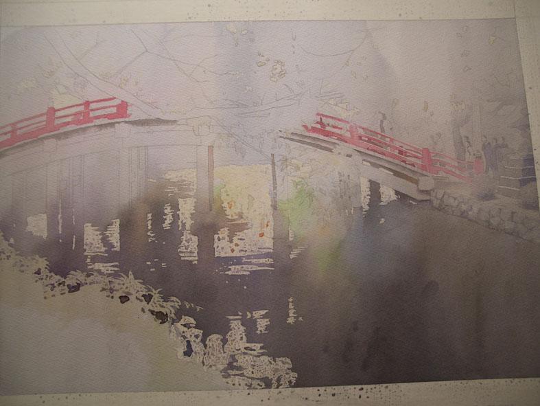水彩画「タイトル未定」ちょっと工程_f0176370_1657335.jpg