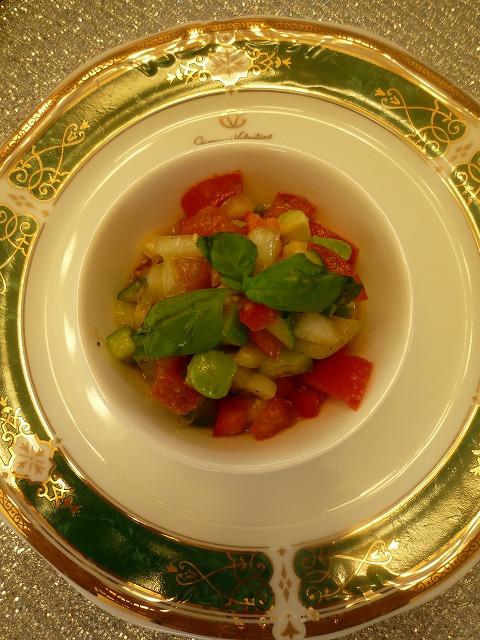 トマトと夏野菜のマリネ_f0229521_1071218.jpg