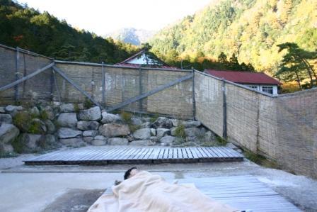 地熱浴場と西岳から常念岳_f0219043_7295080.jpg