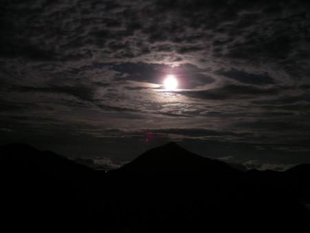 地熱浴場と西岳から常念岳_f0219043_7381545.jpg