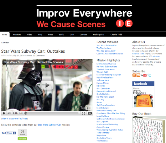 ニューヨークのどこでも即興集団、Improv Everywhere_b0007805_21555373.jpg