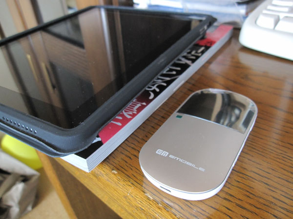 iPad とイー・モバイル Pocket WiFi(ポケットWiFi:D25HW)_f0098083_2310443.jpg