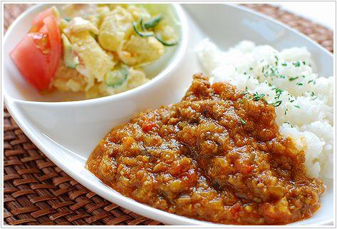 野菜たくさんキーマカレー_c0163391_21442727.jpg