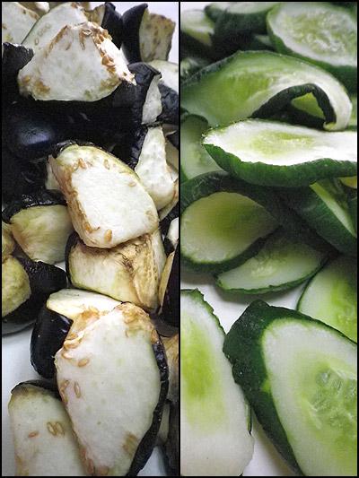 「干し野菜は続く...胡瓜と茄子」100729_b0006637_1304437.jpg