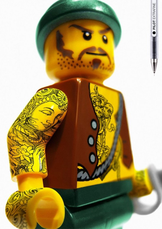 swedish tattoos. Tattooed LEGOs