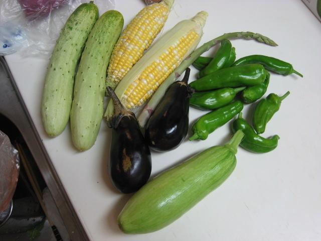 初めて採れた野菜など_e0121558_23105179.jpg