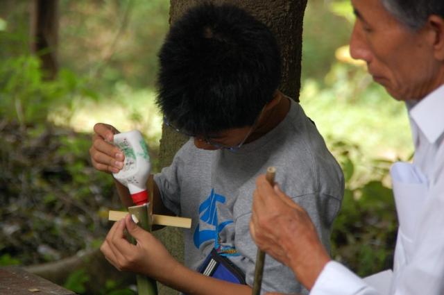 「夏休み工作」…竹かざぐるま&かたつむりを作ろう!!_c0108460_1474336.jpg