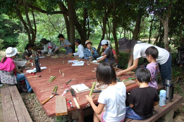 「夏休み工作」…竹かざぐるま&かたつむりを作ろう!!_c0108460_1481310.jpg