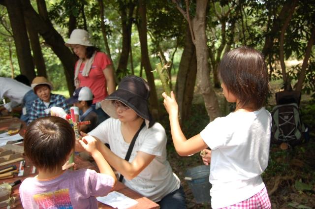 「夏休み工作」…竹かざぐるま&かたつむりを作ろう!!_c0108460_1484279.jpg