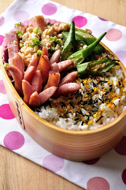 炒り明太豆腐とウインナー弁当_b0171098_7282322.jpg