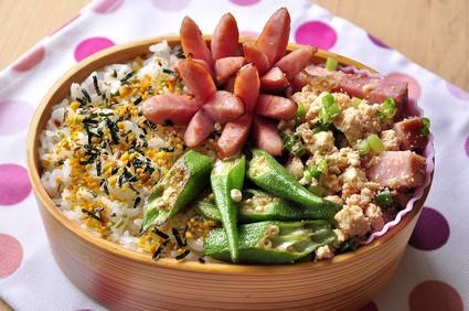 炒り明太豆腐とウインナー弁当_b0171098_7431594.jpg