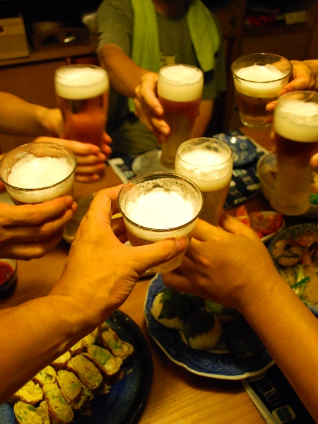 ビールで暑気祓い@えるさんち_c0177814_13265637.jpg