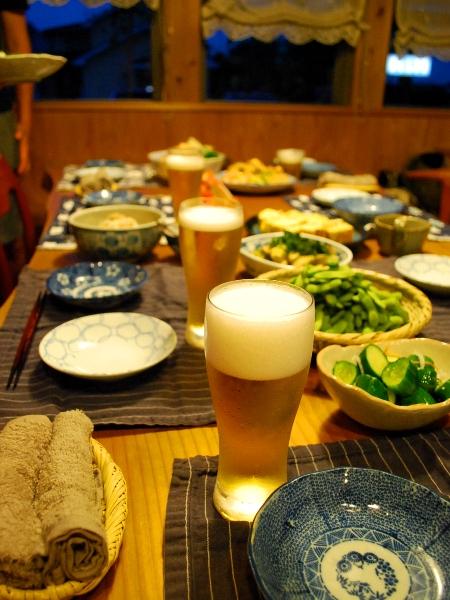 ビールで暑気祓い@えるさんち_c0177814_1444080.jpg