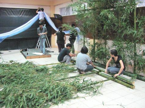 Tanabata installation is on-going バギオ七夕 製作中_a0109542_22142155.jpg