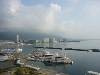 福岡から静岡へ!その7。琵琶湖の朝です。_e0188087_7145075.jpg