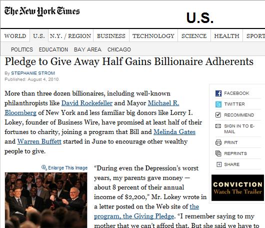 Giving Pledge 世界屈指の大富豪が慈善事業への寄付活動を普及へ_b0007805_11405371.jpg