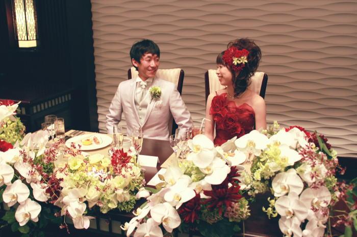 新郎新婦様からのメール 和の装花 目黒雅叙園様へ_a0042928_0475353.jpg