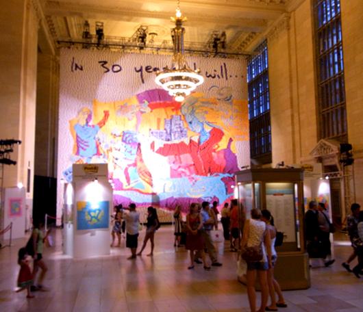 Post-itで作った巨大アート作品がグランドセントラル駅に展示中_b0007805_0221750.jpg