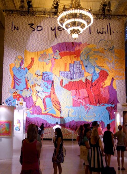Post-itで作った巨大アート作品がグランドセントラル駅に展示中_b0007805_02337.jpg