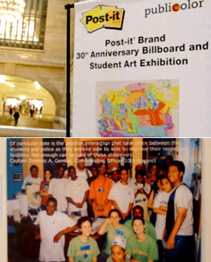 Post-itで作った巨大アート作品がグランドセントラル駅に展示中_b0007805_039388.jpg