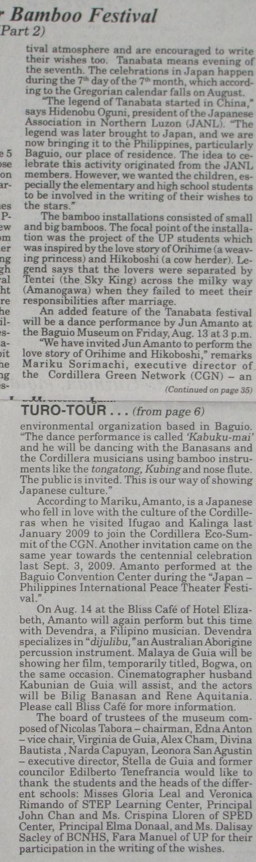 Tanabata Festival in Baguio  バギオが仙台?になった_a0109542_10414599.jpg