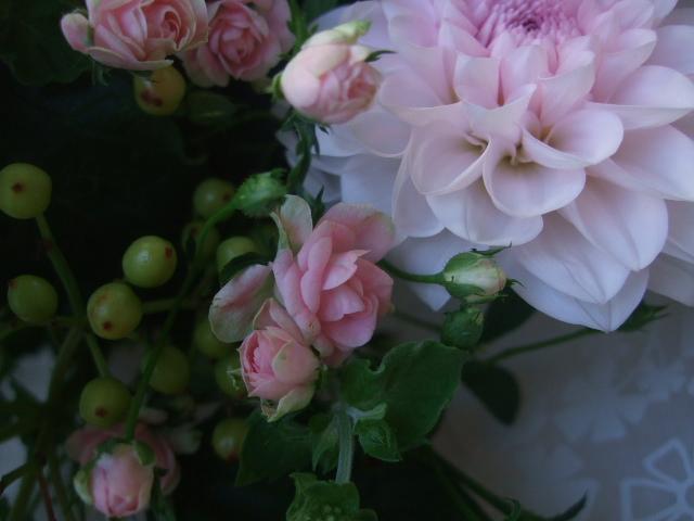 オークリーフ(夏のピンクカラーブーケ)_f0049672_1315550.jpg