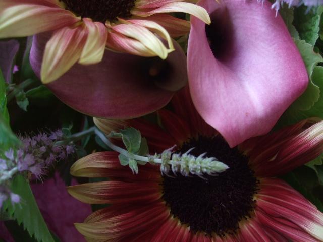 オークリーフ(紫陽花とルビーイクリプスの花束)_f0049672_14212752.jpg