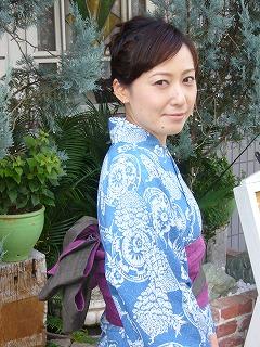 ブルーな浴衣とブルーなドレス_a0123703_20263713.jpg