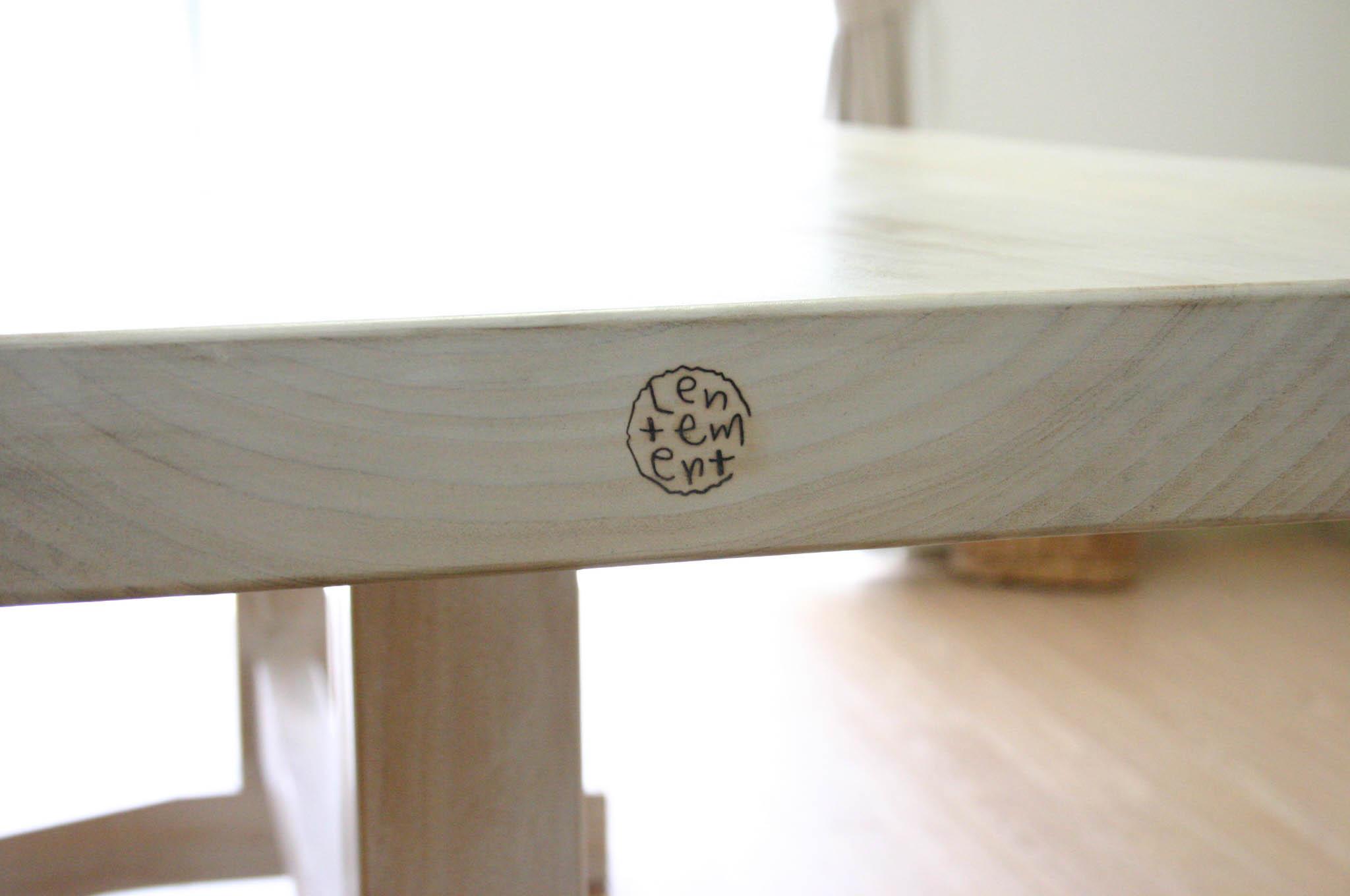 まきの木テーブル_f0171785_1659522.jpg