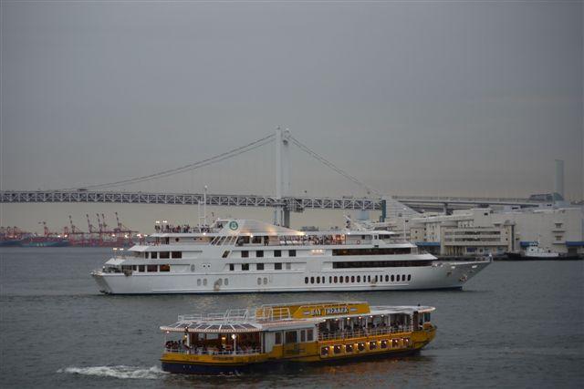 竹芝桟橋から見るレインボーブリッジ_b0175688_12182720.jpg