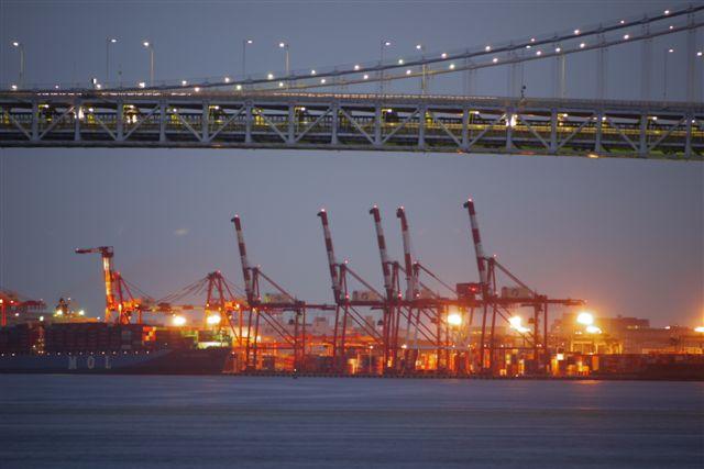 竹芝桟橋から見るレインボーブリッジ_b0175688_12233678.jpg
