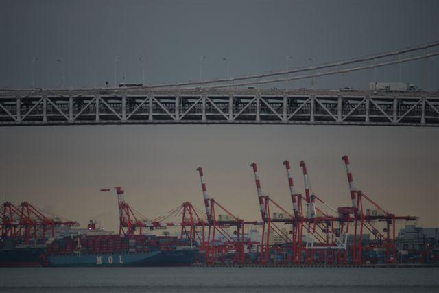 竹芝桟橋から見るレインボーブリッジ_b0175688_1274386.jpg