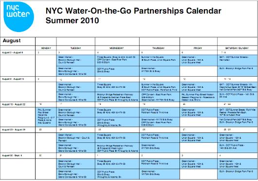 NY市内に特設水飲み場が登場中 Water-on-the-Go_b0007805_0553312.jpg