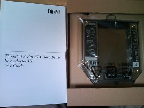 ThinkPad SATA ハードディスクドライブ・ベイアダプター3 を購入した [写真]_b0003577_1556566.jpg