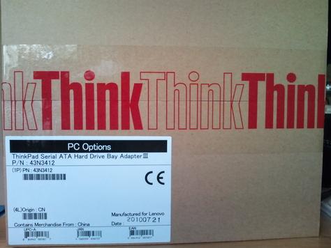 ThinkPad SATA ハードディスクドライブ・ベイアダプター3 を購入した [写真]_b0003577_1556895.jpg