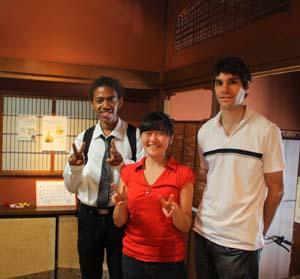 フランス・ナント市の交換留学生アカ・リオネルさんとサムエル・ビトさんがやってきました。_d0178448_1416370.jpg