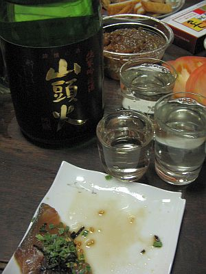 """雨月盆会""(夜酔い)・・・清酒""山頭火""と""八鹿""_c0001578_21372199.jpg"