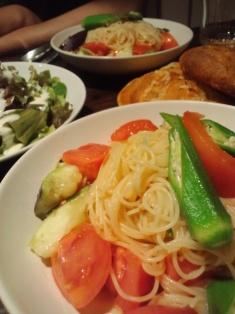 夏野菜のパスタ_e0117783_1755777.jpg