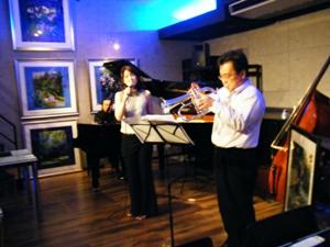 Duo+1 at Jazz工房Nishimura♪2010.8.21_c0139321_22455379.jpg