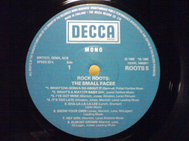 ROCK ROOTS / The Small Faces_c0104445_2202721.jpg