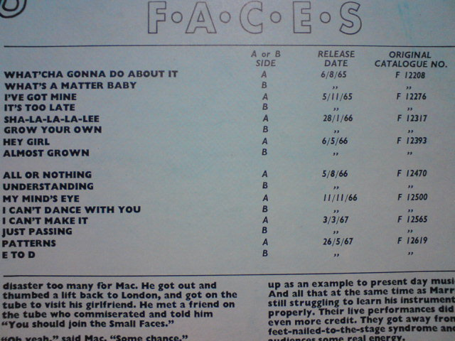 ROCK ROOTS / The Small Faces_c0104445_2204686.jpg