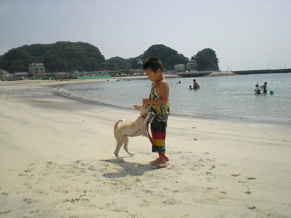 2010年8月24日(火)海と子供と子犬!_f0060461_9203455.jpg